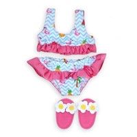 Dolls Bikini with Slippers Flamingo, 35-45 cm