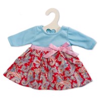 Doll dress Red Paisley, 28-35 cm