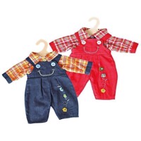 Dolls Dungarees with Shirt, 28-33 cm
