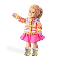 Doll vest with skirt, 35-45 cm