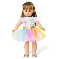 Doll dress Unicorn, 35-45 cm
