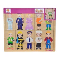 Eichhorn Wooden Puzzle - Professions, 30st.