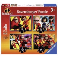 Incredibles 2 Puzzle, 4in1