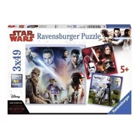 Star Wars Episode VIII Puzzle, 3x49 psc