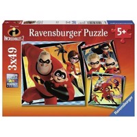 Incredibles 2 Puzzle, 3x49 psc
