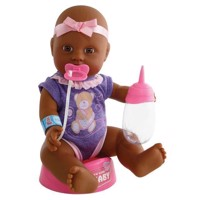 New Born Baby African American Doll, 4dlg.