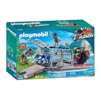 Playmobil 9433 Air cushion boat with Dinos