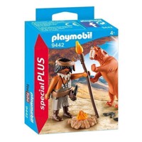 Playmobil 9442 Neanderthal with Saber-toothed tiger