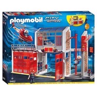 Playmobil 9462 Large fire station with helicopter