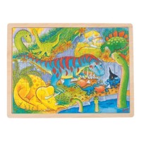 Wooden Jigsaw Puzzle, Dinos, 48 psc