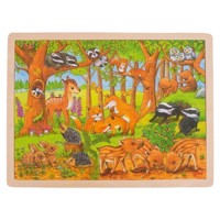 Wooden Jigsaw Puzzle, Forest Animals, 48 psc