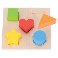 Wooden Shapes and Color Puzzle, 5pcs.