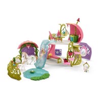 Schleich Glitter Flower House with Unicorns, Pond and Stable