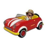 Monchhichi Car with Willow Toy figure