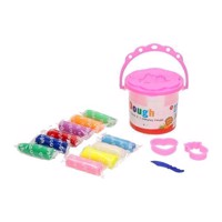 Bucket with Colored Clay, 8st. - Pink