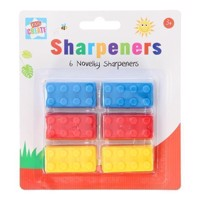 Pencil sharpener building blocks, 6st.