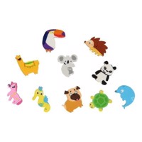 Eraser Animals, 10pcs.
