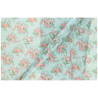 Wrapping paper Light blue Flowers, 3mtr.