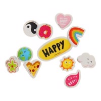 Happy News erasers, 11 pcs.