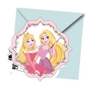 Invitations Disney Princess, 6pcs.