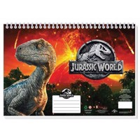 Jurrasic World Sketchbook A4 with Stickers