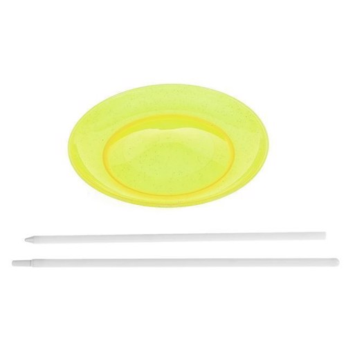 Juggling plate with stick-Yellow