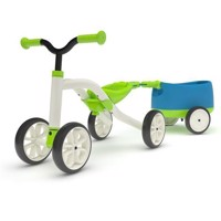 Chillafish Quadie Balance Bike with Trailie - Green