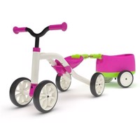 Chillafish Quadie Balance Bike with Trailie - Pink