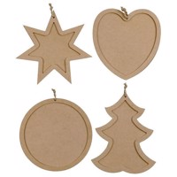 Decorate your Wooden List Christmas, 80 psc