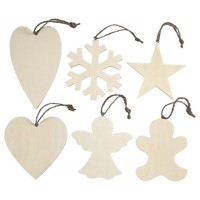 Decorate your Wooden Christmas Hangers, 6pcs.