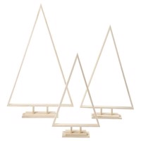 Wooden Christmas trees, set of 3