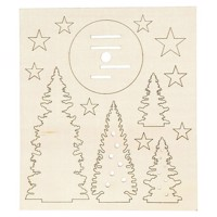 Create and decorate your wooden Christmas trees