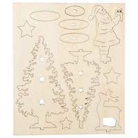 Create and Decorate your Wooden Christmas Figures