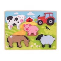 Wooden Puzzle Farm, 5 psc