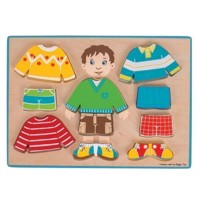 Wooden Dress Up Puzzle Boy, 10pcs.