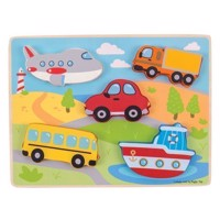 Wooden Puzzle Vehicles, 5 psc