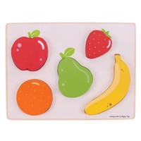 Wooden Puzzle Fruit, 5 psc