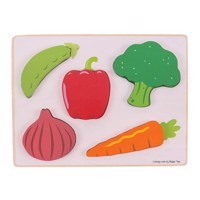 Wooden Puzzle Vegetables, 5 psc