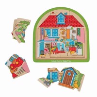 Wooden Layer Puzzle House, 27 psc