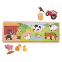 Wooden Magnet Set Farm, 14psc