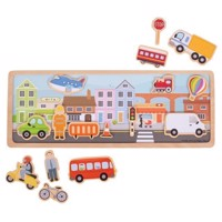 Wooden Magnet Set City, 16psc