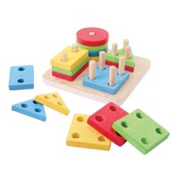 Wooden Shapes Stacking, 17dlg.