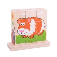 Wooden Block Puzzle Pets, 10pcs.