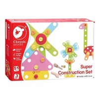Classic World Wooden Construction Set, 62dlg.