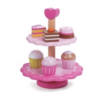 Classic World Wooden Cupcakes with Etagère, 10dlg.