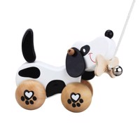 Classic World Wooden Pull Animal Dog