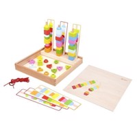 Classic World Wooden Beads Games Box, 53dlg.