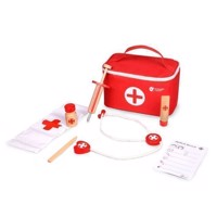 Classic World Wooden Doctor Set with Bag, 24dlg.