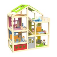 Classic World Wooden Doll Villa, 28psc