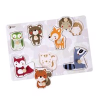Classic World Wooden Nipple Puzzle Forest Animals, 7pcs.
